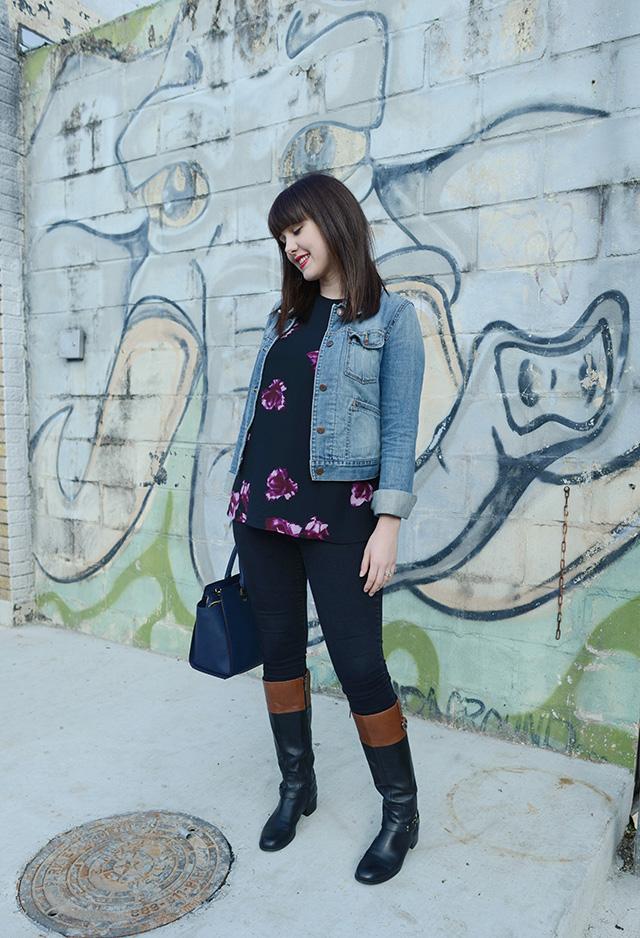Shop and Twirl | Dark Floral 2