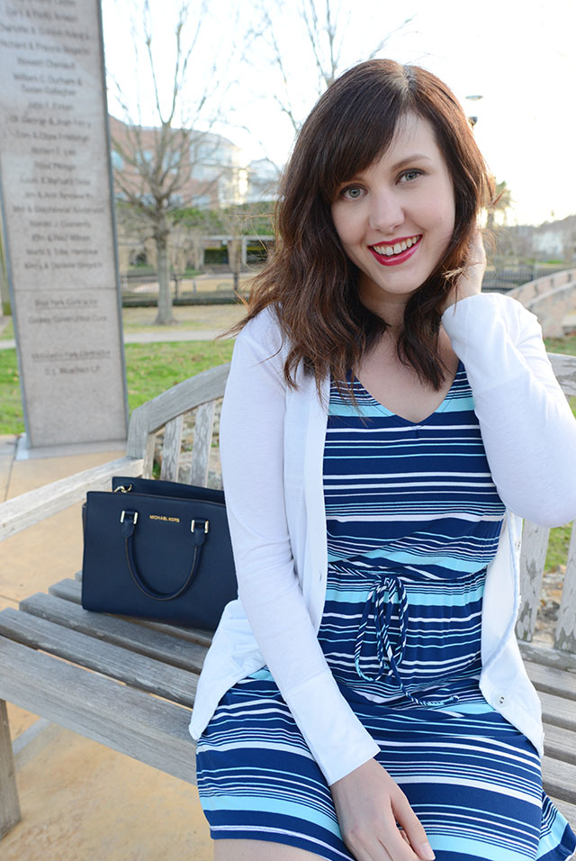 Shop and Twirl | Blue Striped 2