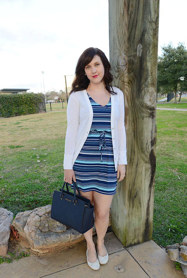 Shop and Twirl | Blue Striped 3