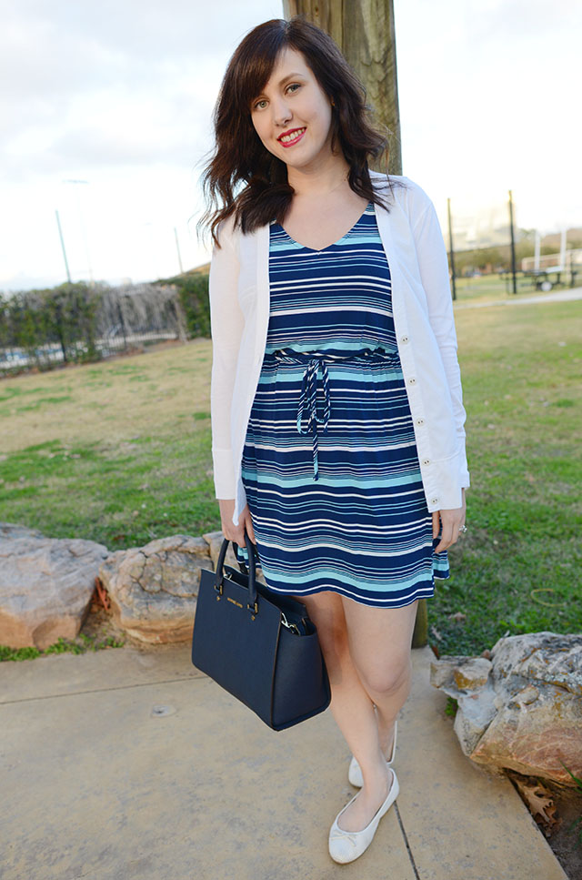 Shop and Twirl | Blue Striped 4