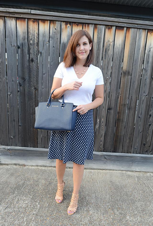 Shop and Twirl | T-Shirt & Work Skirt 1